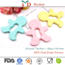 2017 new born silicone baby teething toys natural rubber teether