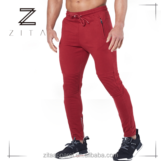 Trade Assurance Training Wear Men Red High Quality Jogger Pants Wholesale