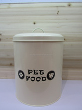 Large Capacity Metal Dog Food Container Storage Box with Scoop