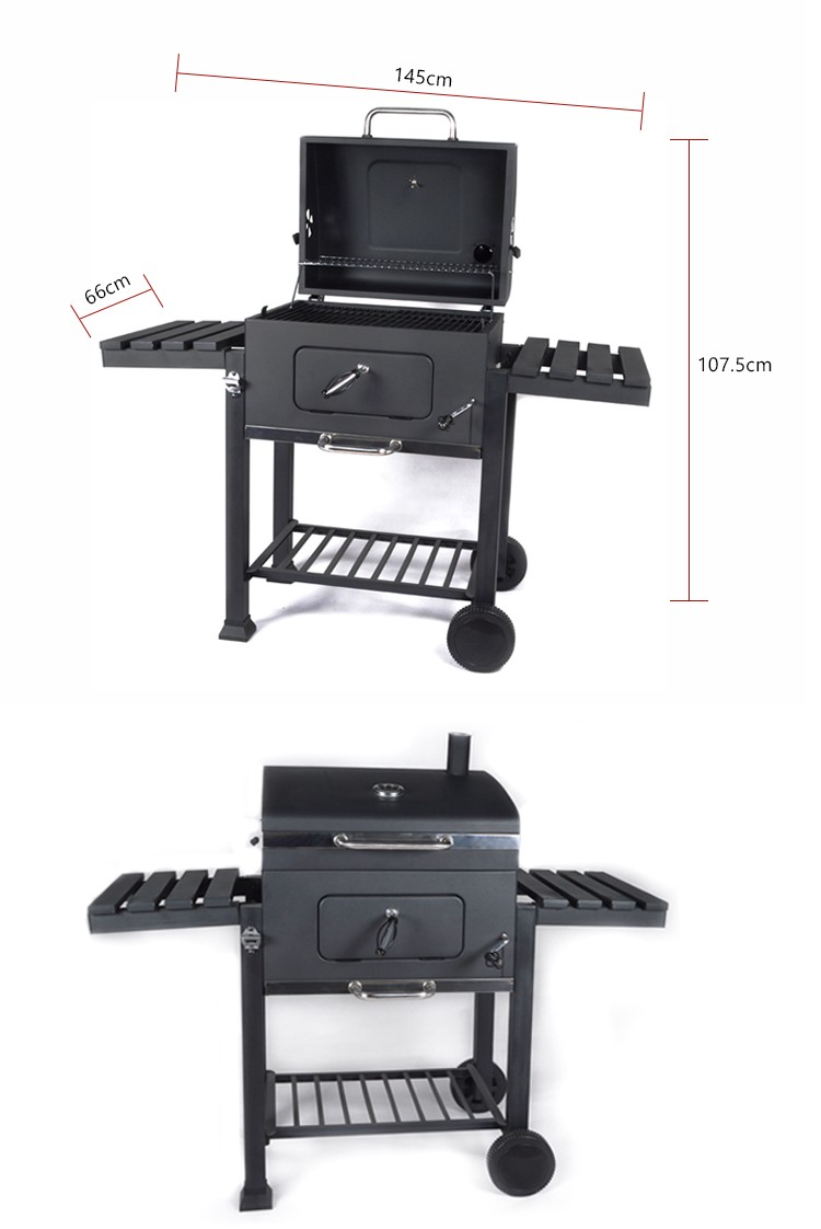 Hotlink Buy Direct From China Factory KY4524B Rectangular Trolley BBQ Charcoal Grill