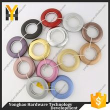 Fancy new designs plastic colorful small shower curtain rod eyelet ring