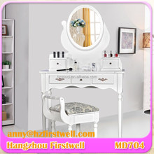 makeup vanity dressing table,Antique Mirrored Dressing table with Mirrored and Dressing Stool