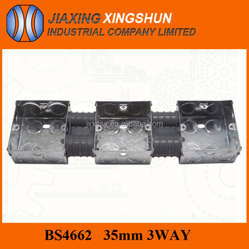 China supplier 3W galvanized steel outdoor coaxial cable tv junction box