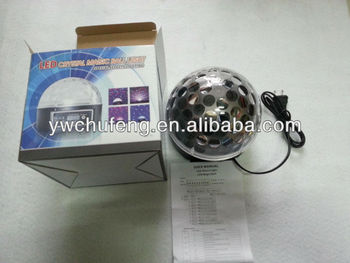 Disco DJ Stage Lighting Digital LED RGB Crystal Ball Effect Light