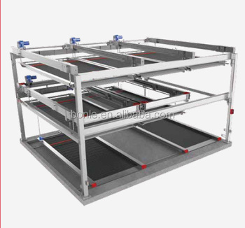 smart car parking system, Three-layer lift-sliding mechanical parking system