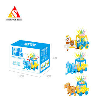 Animal trailer toys with b/o funny battery operated toys
