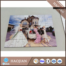 hardwood puzzle sublimation white blank wooden jigsaws puzzle board
