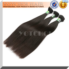 Unprocessed grade 5A 100% genuine raw brazilian hair extension