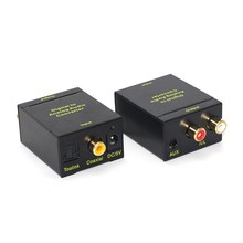 Optical SPDIF/Coaxial Digital to RCA L/R Analog Audio Converter with 3.5mm Jack Support Headphone Outputs