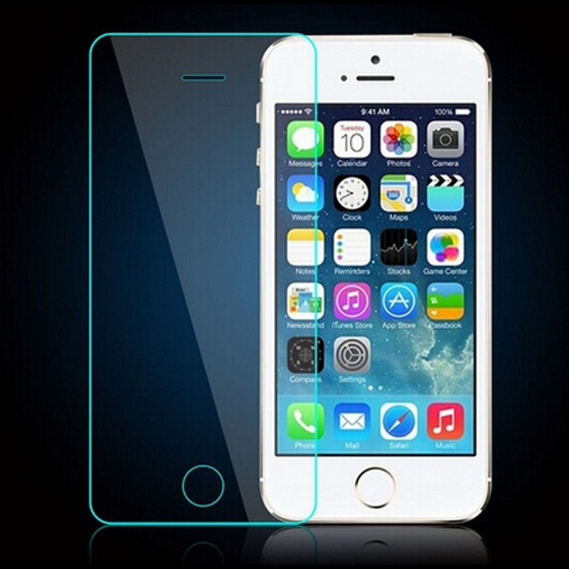 China supplier factory price color tempered glass screen protector for iphone 5