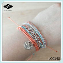 Colorful Bracelet Set Beaded Multi Strand Friendship Bracelet Sand Dollar Charm Bracelet