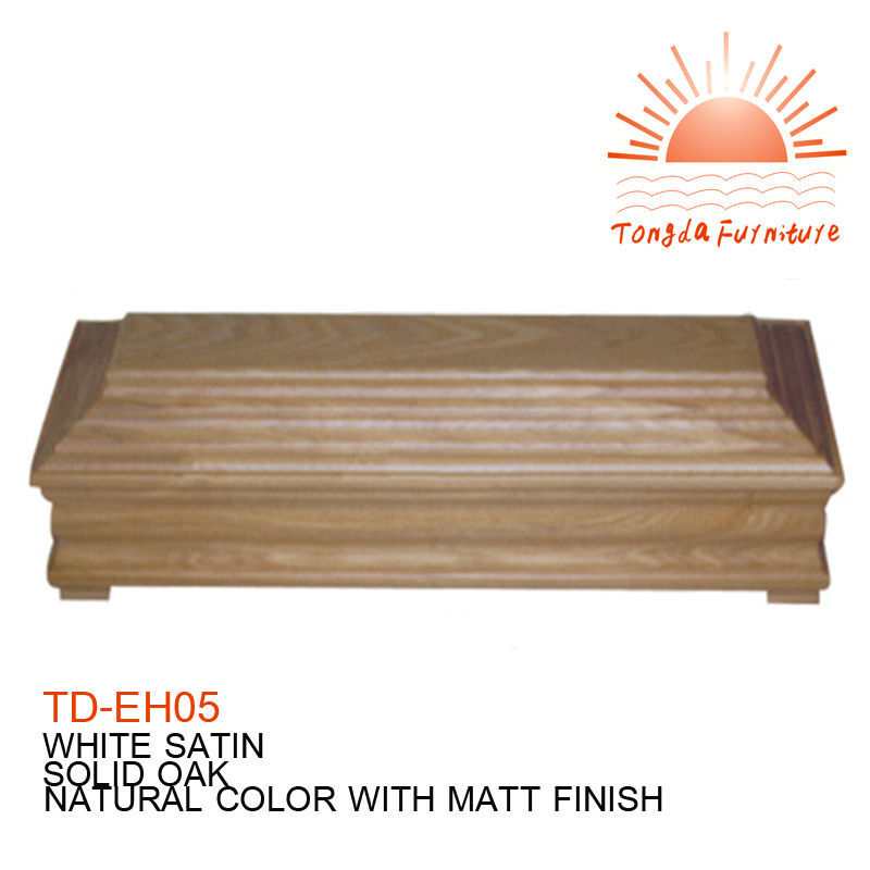 TD---EH05 coffin Germany cheap casket wooden hardwood plastic matel