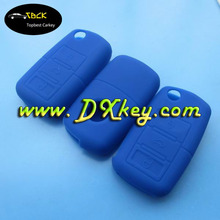 3 buttons rubber key case for vw key replacement blue color silicone key cover vw
