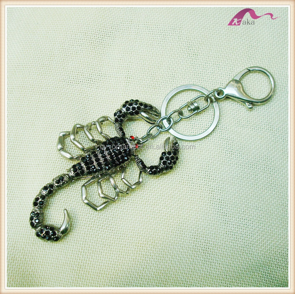 Fancy Real Crystal Scorpion Keychain Manufacturers In China