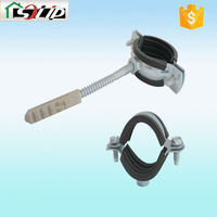 galvanized steel rubber pvc pipe fitting saddle clamp