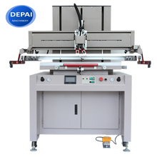 DEPAI machinery satin label manual cylindrical automatic flat bed screen printing machine