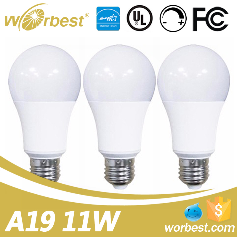 Soft White E26 Cap UL ES Listed A19 Led Bulb 11W Dimmable 75W Equivalent Led Lamp