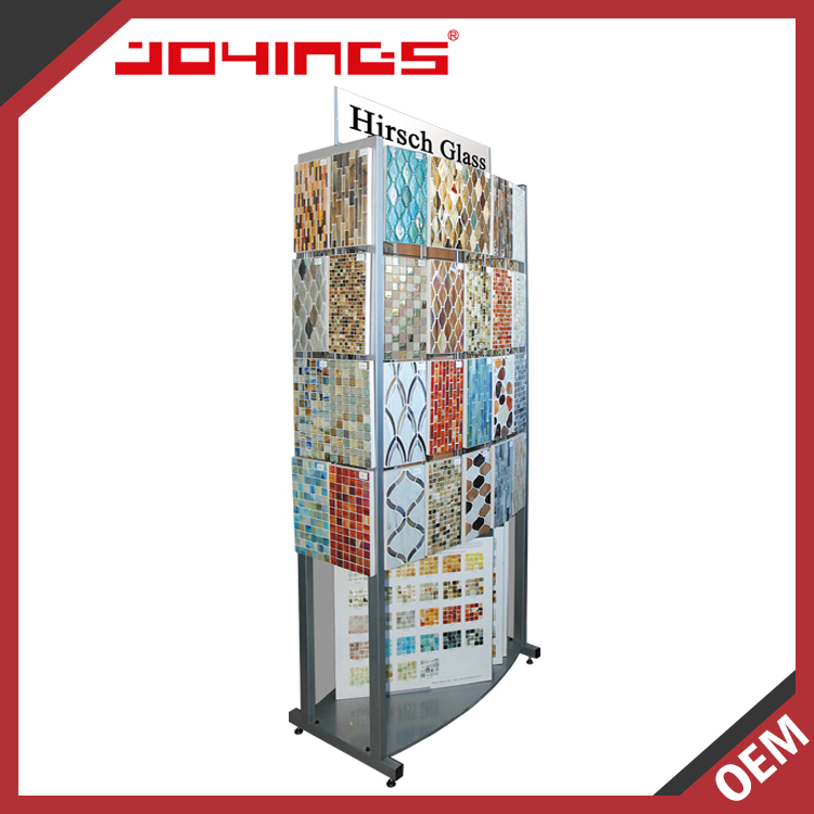 Good Quality OEM Customized Floor Standing Tile Showroom Display For Mosaic / Stone / Tile Presentation