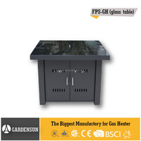 Outdoor glass fire pit (Square Glass Table) GARDENSUN 40,000BTU with CE CSA AGA ISO