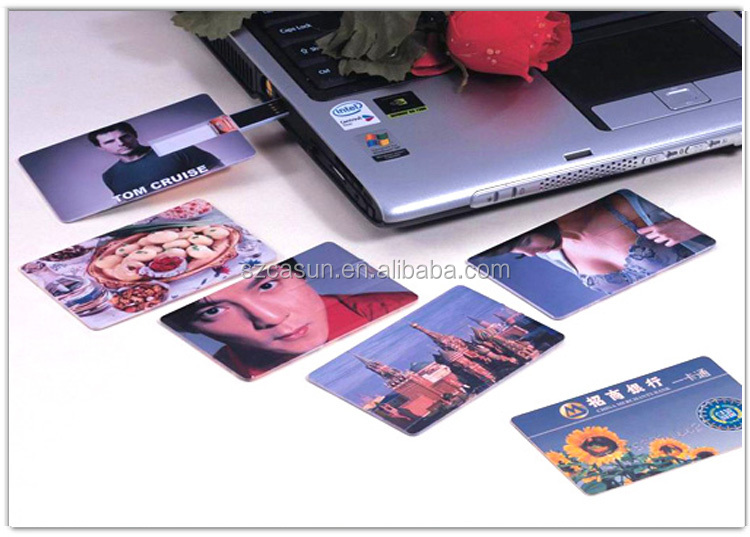 Promotional gift custom credit card pen drive