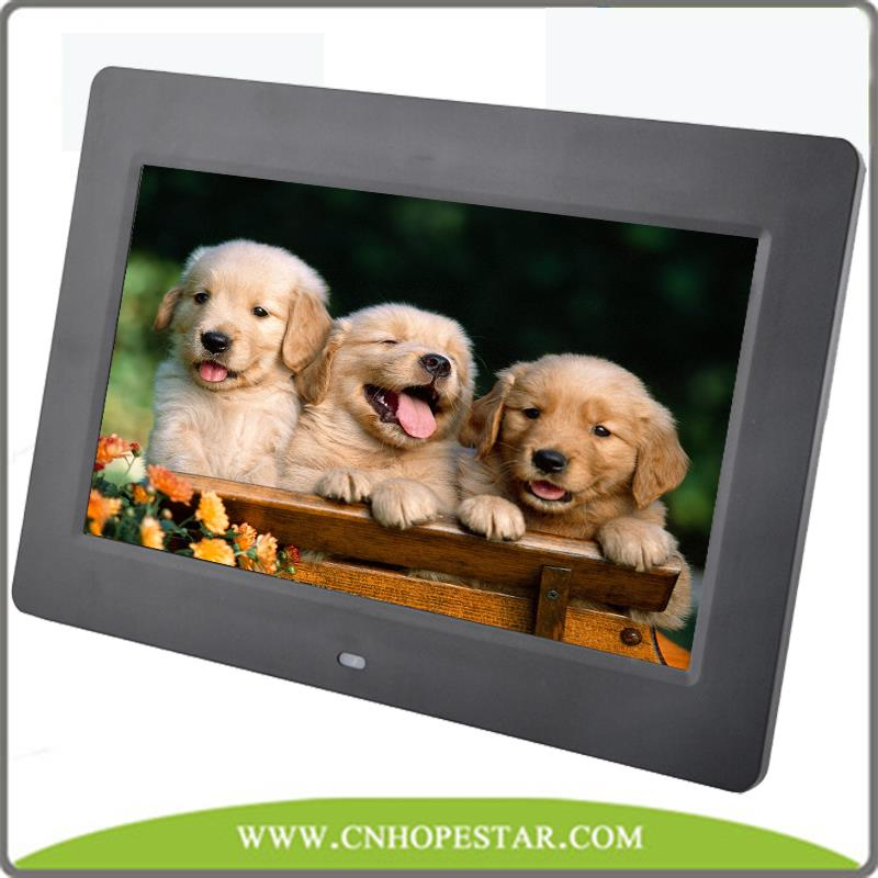 Mp4 play 8inch digital photo frame with video input for kids