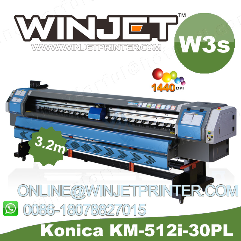 china factory wit color konica 512 solvent printer for logo printing in guangzhou
