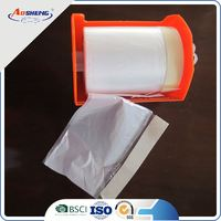 plastic cover for dust instant adhesion pre taped masking film