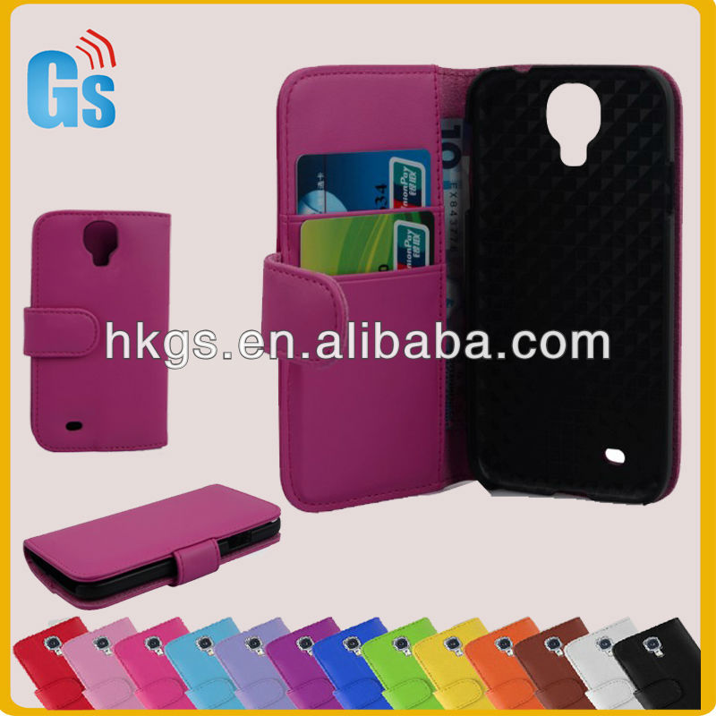 Hot sale wallet case pouch galaxy s4 fit hot pink