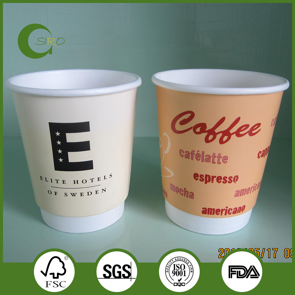 Double wall paper cups,coffee paper cups,custom printed paper cups