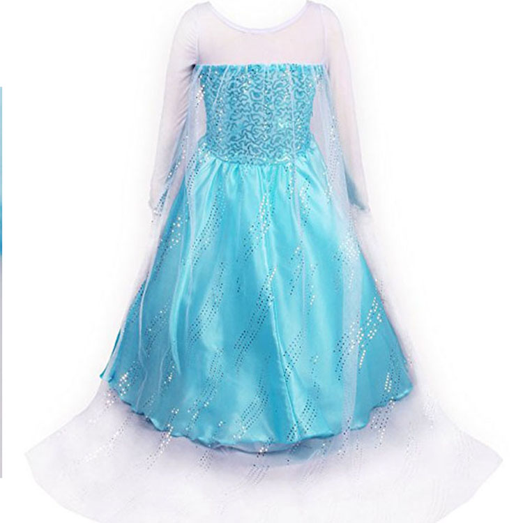 The queen dress of children princess dress for perference cosplsy dance dress costume for party