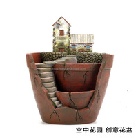 2017 japanese vide new products home & amp garden flower pot beautiful villa house luxury orchid plants round flower box pot