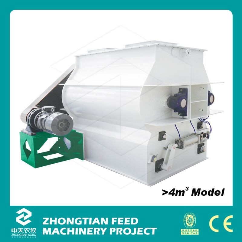 China Double Paddle Feed Blender Machine / Poultry Feed Mill Mixer Price