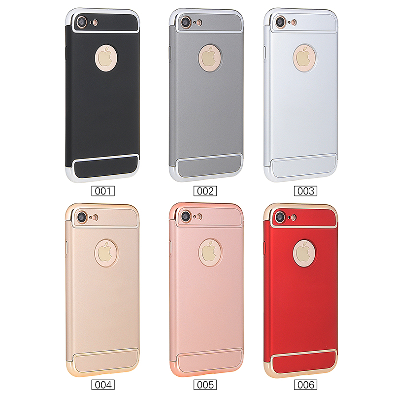 3 in 1 full cover protective phone case for iphone 7 case 360