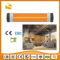 Ceiling mounted medium long wave radiation infrared quartz milky lamp space IR radiance heater