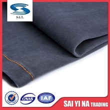 Lightweight stretch cotton polyester knit spandex blue denim upholstery fabric