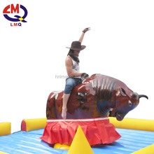 2017 top sales amusement park electric inflatable games red mechanical bull rides for sale
