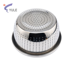 bulk cheap modern kitchen versatile 2017 stainless steel 201# pasta orzo noodles rice washing bowls strainer