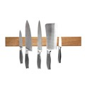newest design strong magnetism walnut knife block set