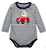 striped printing long sleeve baby bodysuit