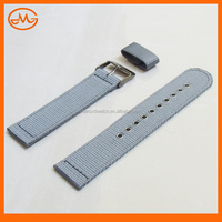 New 22mm/ 24mm Stainless Steel Gun Buckle Cool Grey Tetoron Nylon Watch Nato Strap