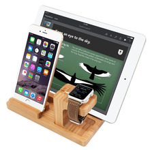 3 in 1 Bamboo Stand for iPad Stand and Apple Watch Stand 38mm&42mm