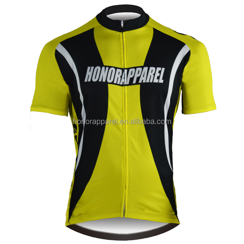 China Honorapparel Anti-Bacterial Moisture-wicking Comfortable Custom Cycling Jersey