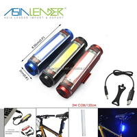 3 Modes 100% Lighting 50% Lighting and Flashing 3.7V Li-ion Battery Power Supply Aluminum 3w Cob Seatpost Mountain Bike Light