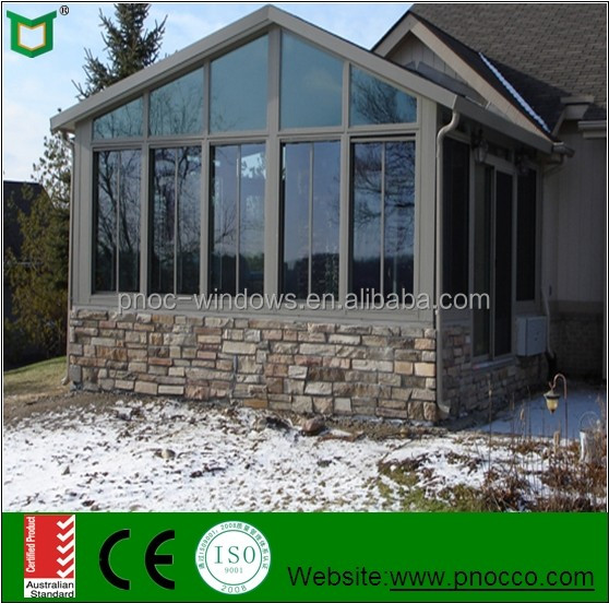 Prefabricated aluminum glass house with good performance for Prefab glass house prices