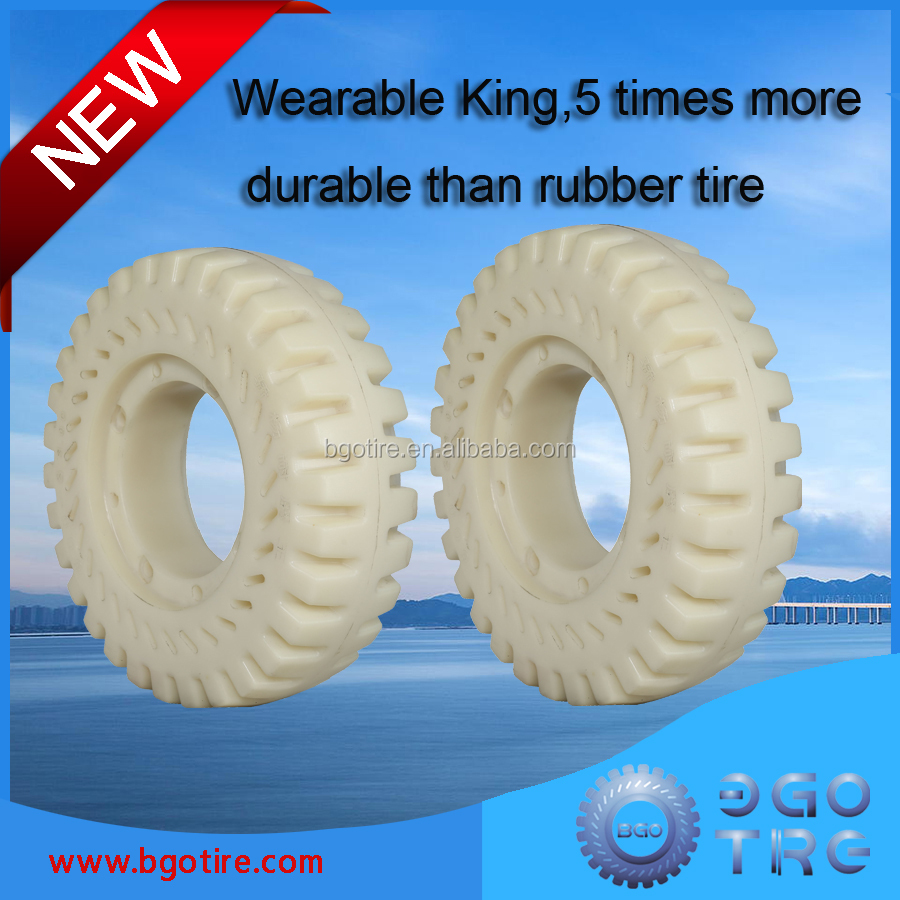 4 wheel forklift tire 23x8-12 chinese tires brands electric forklift pu tires