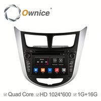 Ownice Android 4.4 Car stereo for HYUNDAI Verna accent Solaris 2011 with GPS Navigation Stereo WIFI 3G Bluetooth DVD