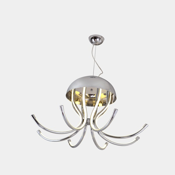 Excellent Jellyfish Sharp Art Design Metal Material Led Modern Hanging Pendant Lamps