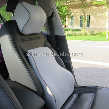 Waist back car seat back support lumbar cushion set