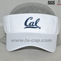 customized embroidery logo good quality cotton sun visor