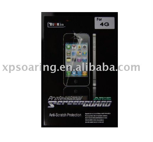 high quality back clear screen protector for iphone 4G